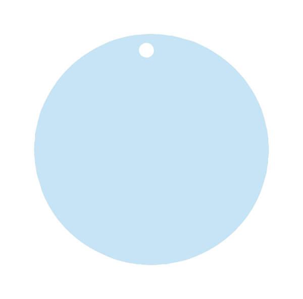 Etiquette ronde bleu ciel