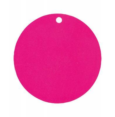 Étiquette ronde fuchsia (x10) REF/3352