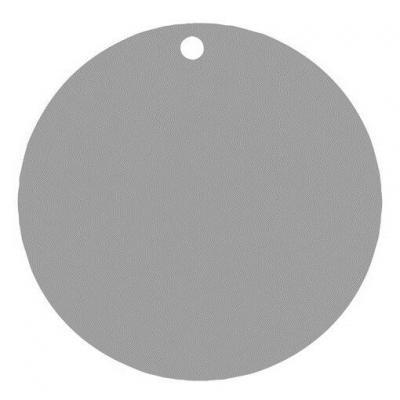Étiquette ronde grise avec perforation pour votre confection (x10) REF/3352