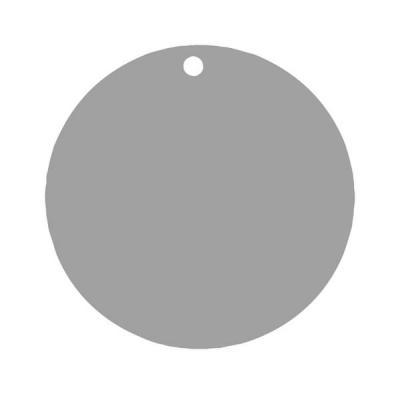 Étiquette ronde grise (x10) REF/3352