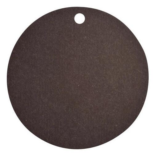 Etiquette ronde noire avec perforation
