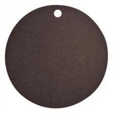 Étiquette ronde noire avec perforation pour votre confection (x10) REF/3352