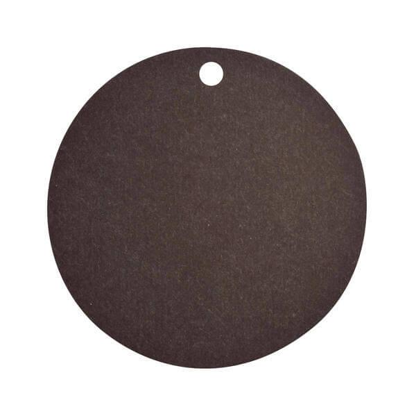 Etiquette ronde noire