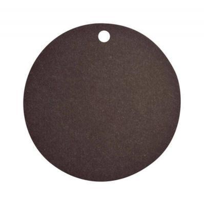 Étiquette ronde noire (x10) REF/3352