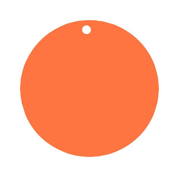 Etiquette ronde orange