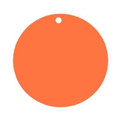 Étiquette ronde orange (x10) REF/3352