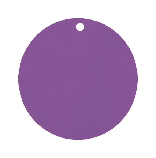 Etiquette ronde prune