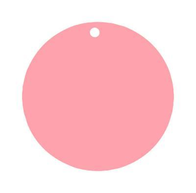 Étiquette ronde rose (x10) REF/3352