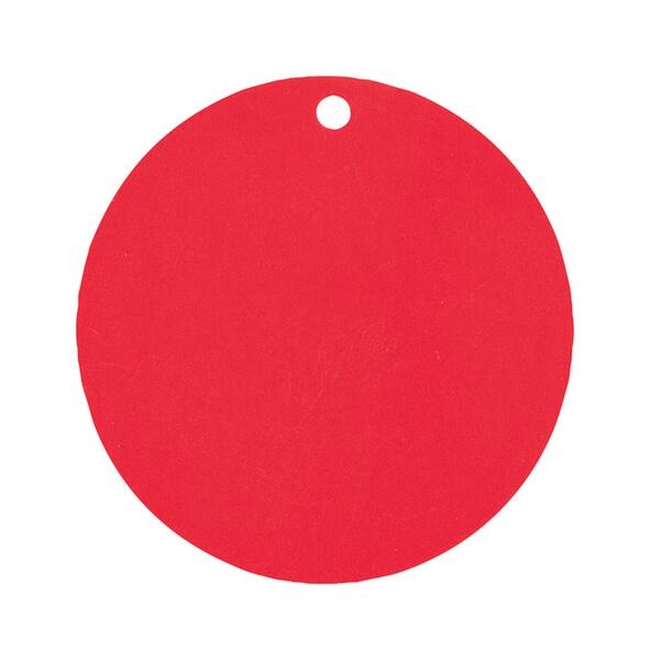 Etiquette ronde rouge
