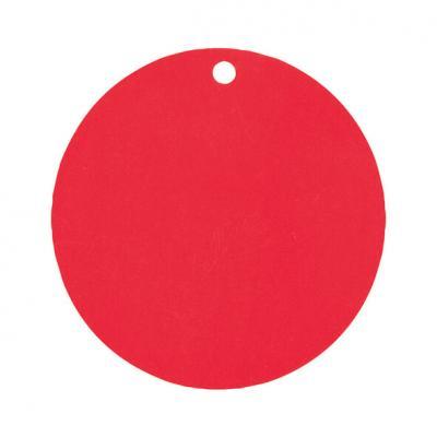 Étiquette ronde rouge (x10) REF/3352