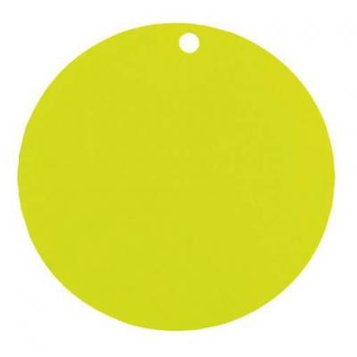 Étiquette ronde verte avec perforation pour votre confection (x10) REF/3352