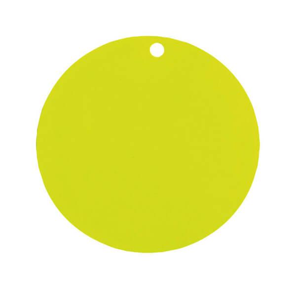 Etiquette ronde verte