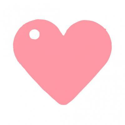 Étiquette rose coeur (x10) REF/2987