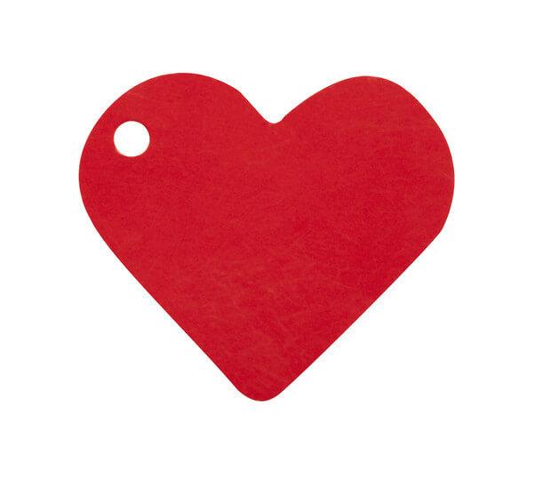 Etiquette rouge coeur