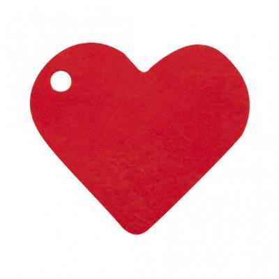Étiquette rouge coeur (x10) REF/2987