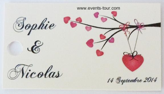 tiquette drages mariage romance x10 ref10108 - Tiquettes Personnalises Drages Mariage