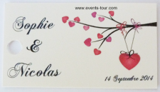 Étiquette à dragées mariage: Romance (x10) REF/10108