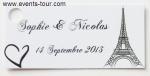 Étiquette à dragées Paris (x10) REF/10129