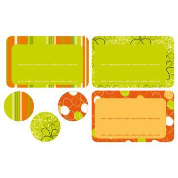 Étiquette cadeau: garden (x24)