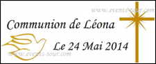Étiquette à dragées: Communion (x10) REF/10090
