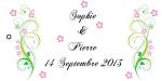 Étiquette à dragées: Champêtre (x10) REF/10122