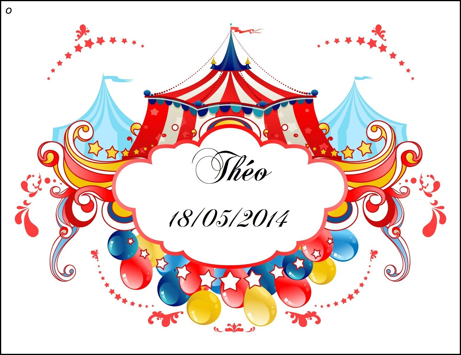 Etiquettes a dragees cirque 1