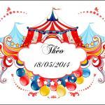 Étiquette à dragées: Cirque (x10) REF/10095