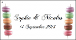 Étiquette à dragées macaron (x10) REF/10136