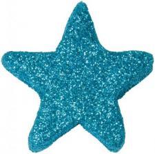 Etoile pailletée bleu turquoise (x12) REF/3004