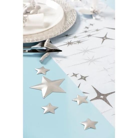 Etoile metallisee argent x6 ref 4380 1
