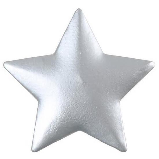 Etoile metallisee argent x6 ref 4380