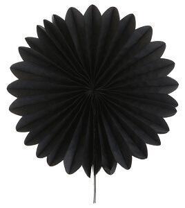 Éventail noir, 20cm (x2) REF/4559