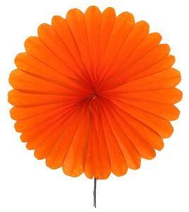 Éventail orange, 20cm (x2) REF/4559