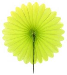 Éventail vert, 20cm (x2) REF/4559
