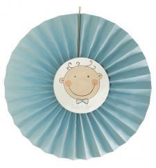 Éventail bébé bleu (x1) REF/15281