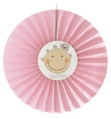 Éventail bébé rose (x1) REF/15282