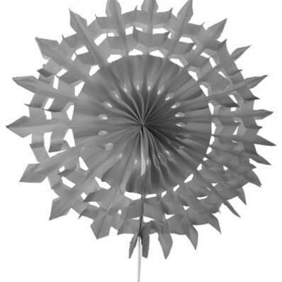 Éventail dentelle, 20cm: Gris (x2) REF/5081
