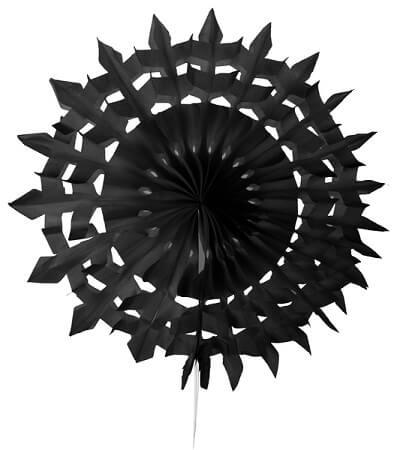 Eventail dentelle 20cm noir