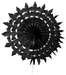 Éventail dentelle, 20cm: Noir (x2) REF/5081