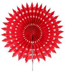 Éventail dentelle, 20cm: Rouge (x2) REF/5081