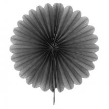 Éventail en papier gris 40cm (x1) REF/4843