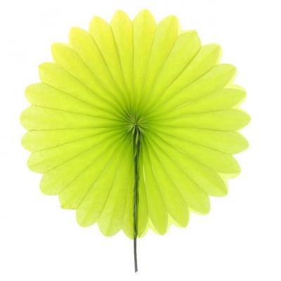 Éventail en papier vert 40cm (x1) REF/4843