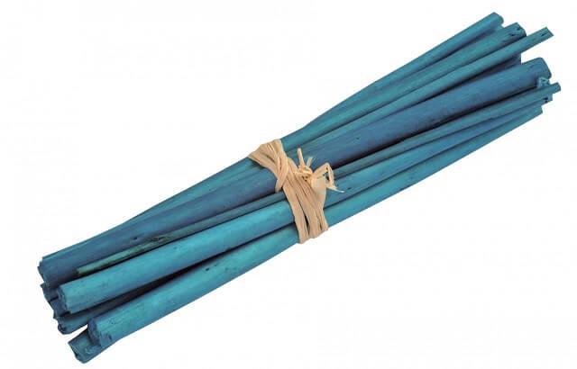 Fagot en bois bleu turquoise
