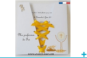 Faire part communion tendance