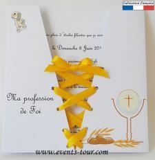 Faire-part corsage communion (x1) REF/10352