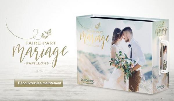 Faire part de mariage elegant