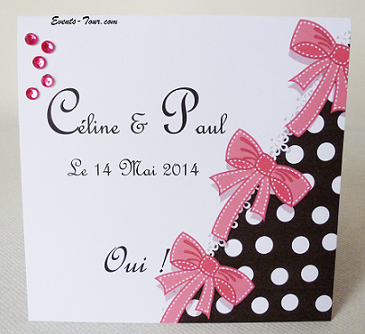 Faire-part mariage: Glamour (x1) REF/10410