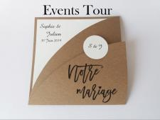Faire-part mariage kraft marron (x1) REF/108.002