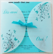 Faire-part papillon: Aurore (x1) REF/10380