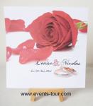 Faire-part mariage: Rose rouge (x1) REF/10405